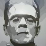 The Monster - 4x4, Acrylic on Luan