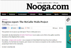 Nooga Mccallie Walls Project Progress Report