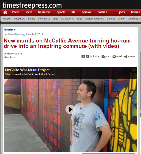 Kevin Bate In Front of McCallie Walls Mural Project