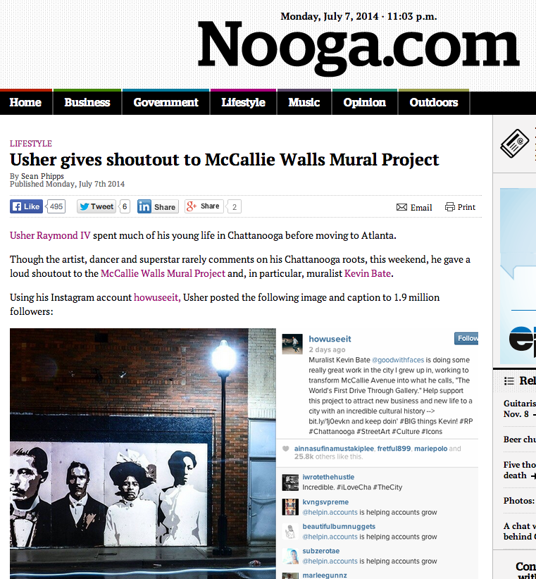 Usher Mentions McCallie Walls - Nooga.com Article