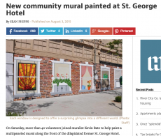 Community Mural for St George by Kevin Bate