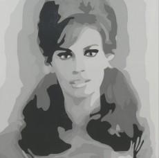 Raquel - 4x4, Acrylic on Luan