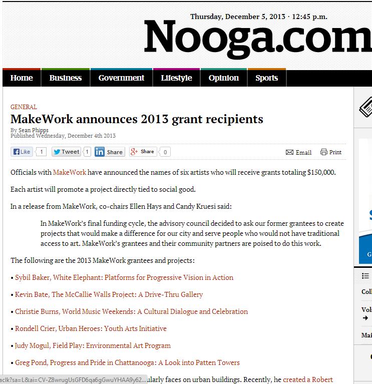 MakeWork announces 2013 grant recipients