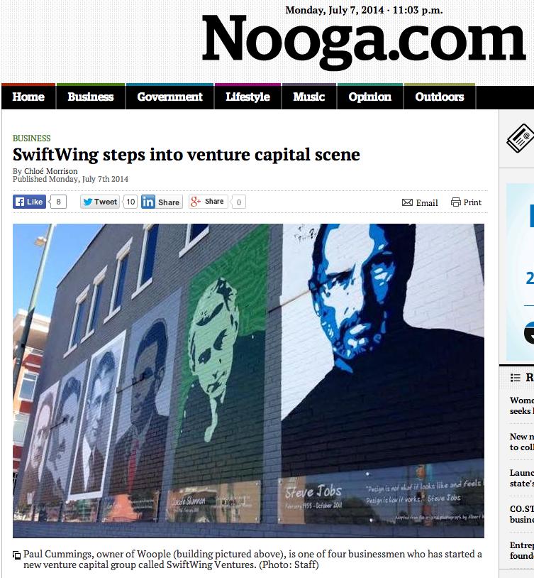 Paul Cummings SwiftWing Nooga.com Mural by Kevin Bate