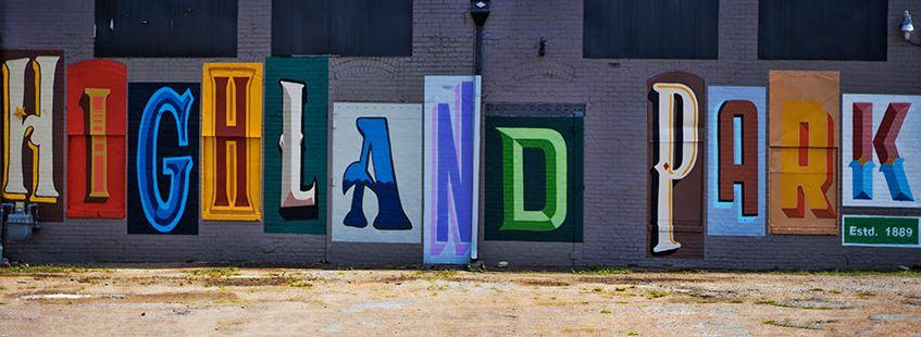 Highland Park Mural - Finished