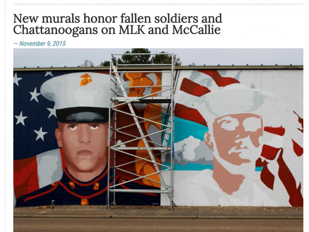 New Mural Honors Fallen Heroes UTC Echo
